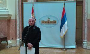 Marko Lopušina u domu Narodne skupštine govori