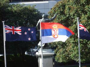 zastava srbije u n zelandu