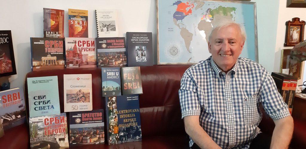 Marko Lopušina i knjige o dijaspori
