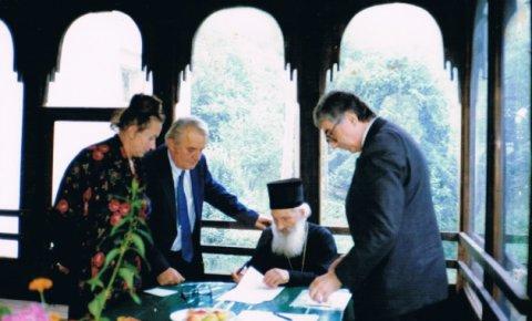 Miloje i Ljiljana Milićević sa patrijarhom Pavlom