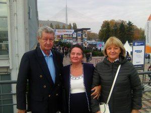 Dr Mihailo i Mirjana Vukas sa prijateljicom u Beogradu