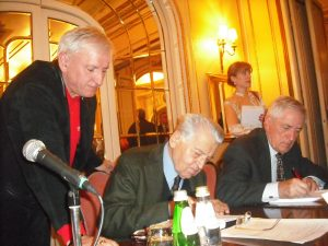 Dobrica Ćosić, Marko Lopušina i Majkl Đorđević u Beogradu 2013