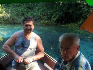 Jovica Andonov i Marko Lopušina na izvoru Crnog Drima u Ohridu 2016